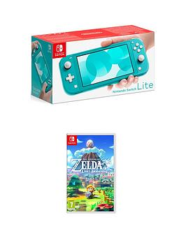 Nintendo Switch Lite    Console With The Legend Of Zelda: Links Awakening