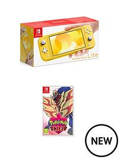 nintendo-switch-lite-nintendo-switch-lite-yellow-console-with-pokemon-shield