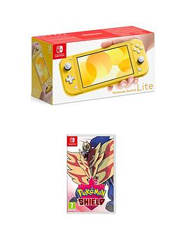 Nintendo Switch Lite    Console With Pokemon Shield