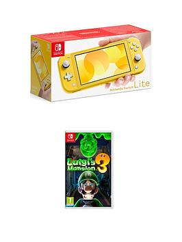 Nintendo Switch Lite    Console With Luigi'S Mansion 3