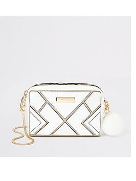 River Island River Island River Island Glitter Cut About Boxy Bag - White Picture