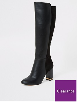 river-island-river-island-wide-fit-block-heel-knee-high-boot-black