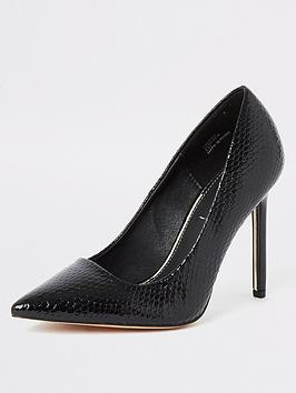 River Island River Island Wide Fit Court Shoe - Black Picture