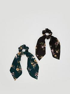 v-by-very-2-pack-floral-hair-scrunchie-scarf-multi