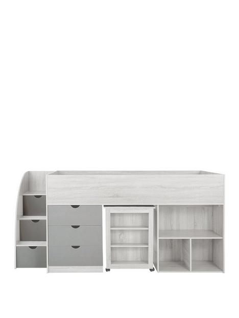 mico-mid-sleeper-bed-with-pull-out-desk-andnbspstorage-grainednbspwhitegrey