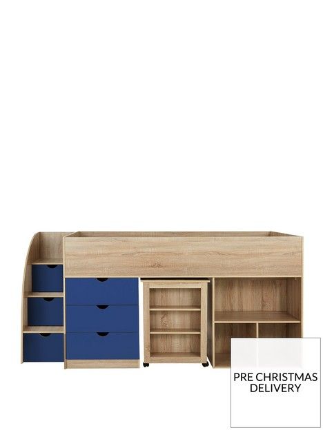 mico-mid-sleeper-bed-with-pull-out-desk-andnbspstorage-oak-effectblue