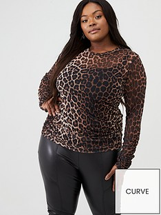 v-by-very-curve-rouche-mesh-topnbsp-animal-print