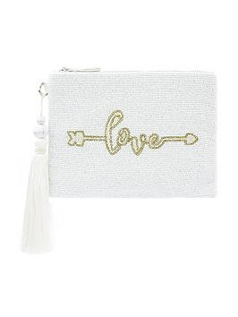 Monsoon Monsoon Lulu Love Embellished Bridal Zip Top Clutch - Ivory Picture