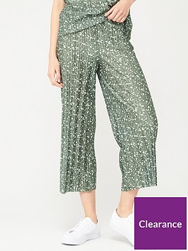 v-by-very-plisse-co-ord-culottes-khaki-print