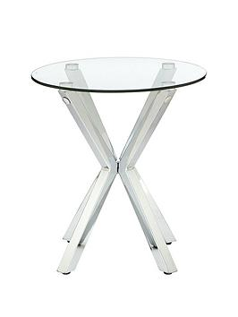 Very  Chopstick Glass And Chrome Lamp Table