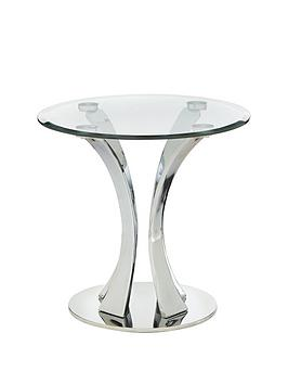 Very  Alice Glass And Chrome Lamp Table