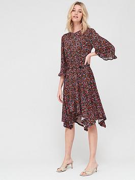 V by Very V By Very Ditsy Floral Hanky Hem Dress - Ditsy Print Picture