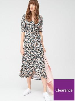 v-by-very-shirred-sleeve-wrap-dress-black-floral