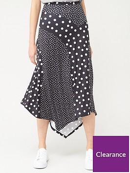 v-by-very-mixed-print-midi-skirt-polka-dot