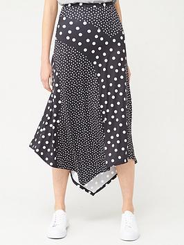 V by Very V By Very Mixed Print Midi Skirt - Polka Dot Picture