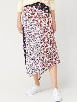 V by Very V By Very Mixed Print Midi Skirt - Floral Picture