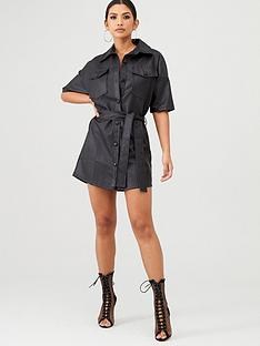 in-the-style-in-the-style-x-stephsa-faux-leather-utility-dress-black