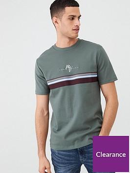 river-island-khaki-maison-riviera-stripe-slim-fit-t-shirt