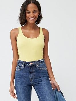 V by Very V By Very The Essential Tall Basic Rib Vest - Lime Picture
