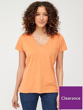 v-by-very-the-essentialnbspbasic-v-neck-tee-orange