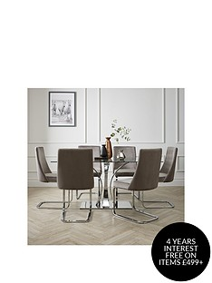 alice-160-cm-rectangle-glass-and-chrome-dining-table-6-velvet-chairs