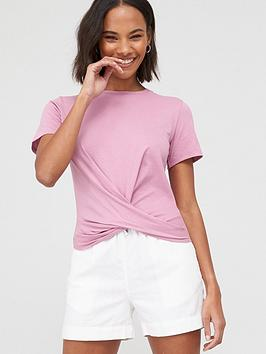 V by Very V By Very Twist Hem T-Shirt - Pink Picture
