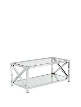 Very Christie Glass And Chrome Coffee Table Picture