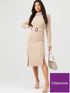 in-the-style-in-the-style-x-billie-faiers-knitted-belted-midi-dress-stone