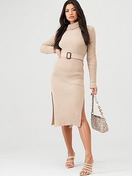 In The Style In The Style In The Style X Billie Faiers Knitted Belted Midi  ... Picture