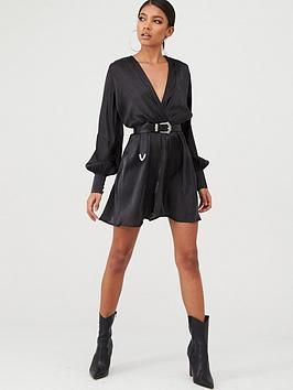 In The Style In The Style In The Style X Stephsa Satin Drape Front Mini  ... Picture