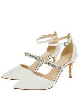Monsoon Monsoon Vixie Embellished Strap Bridal Court Shoe - Ivory Picture