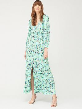 v-by-very-plisse-maxi-dress-green-floral