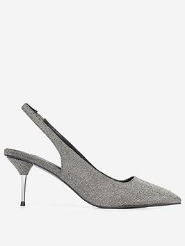 Dorothy Perkins Dorothy Perkins Ellie Court Shoes - Silver Picture