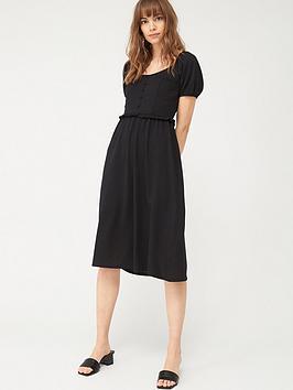 V by Very V By Very Milkmaid Midi Dress - Black Picture