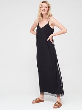 V by Very V By Very Plisse Cami Maxi Dress - Black Picture
