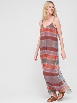 V by Very V By Very Plisse Cami Maxi Dress - Tie Dye Picture