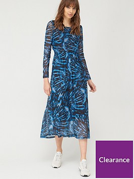 v-by-very-twist-back-mesh-midi-dress-tie-dye