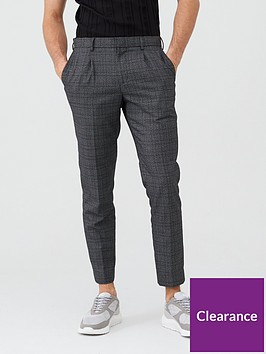 river-island-grey-check-skinny-fit-smart-trousers