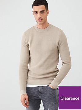 river-island-stone-long-sleeve-slim-fit-knit-jumper