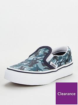 vans-childrens-classic-animal-camo-slip-onsnbsp--blue-camo
