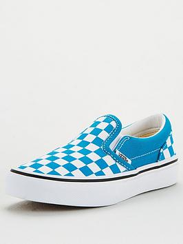 Vans Vans Childrens Classic Slip-On Checkerboard - Blue White Picture