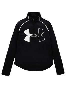 Under Armour Under Armour Girls Tech Graphic Big Logo 1/2 Zip Top -  ... Picture