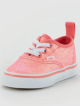 vans-authentic-elastic-lace-neon-glitter-toddler-plimsolls-pinkwhite