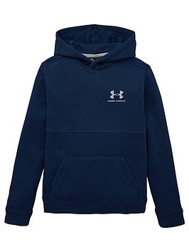 Under Armour Under Armour Cotton Fleece Hoodie - Navy Picture