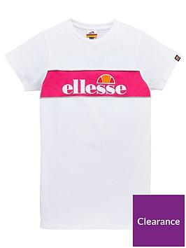 ellesse-older-girls-lizzi-t-shirt-dress-white