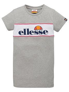 ellesse-younger-girls-lizzi-t-shirt-dress-grey