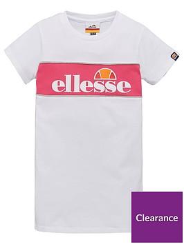 ellesse-younger-girls-lizzi-t-shirt-dress-white