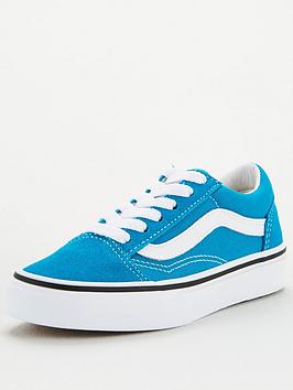 Vans Vans Childrens Old Skool - Blue White Picture