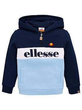 ellesse-younger-boys-vincano-14-zip-hoodie-navy