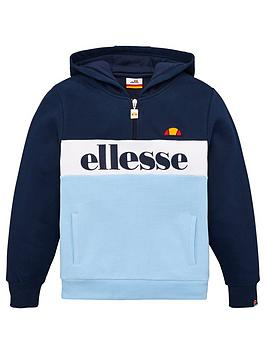 ellesse-ellesse-older-boys-vincano-14-zip-hoodie